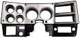 1981-83 Fullsize Chevy & GMC Truck Brushed Aluminum Dash Instrument Bezel with AC