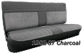 1981-91 Fullsize Chevy & GMC Crew Cab Truck Front Vinyl & Cloth Bench Seat Cover with Horizontal Band