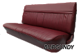 1981-91 Fullsize Chevy & GMC Crew Cab Truck Rear Vinyl Bench Seat Cover with Horizontal Band