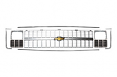 1981-82 Chevy Truck Grille Kit, Single Headlights, Silver