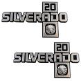 1981-87 Fullsize Chevy Truck SILVERADO 20 Fender Emblem