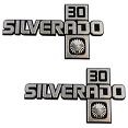 1981-87 Fullsize Chevy Truck SILVERADO 30 Fender Emblems