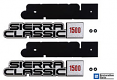 1981-87 GMC Sierra Classic 1500 Fender Emblem, Pair