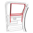 1973-80 Fullsize Chevy & GMC Truck Rear Door Window Felt & Window Channel Kit, CREW CAB