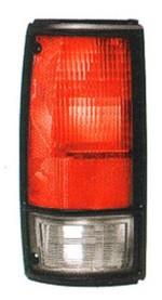 1982-93 Chevy S10 & GMC Sonoma Truck Tail Light Assembly w/ Black Trim, Left