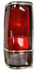 1982-93 Chevy S10 & GMC Sonoma Truck Tail Light Assembly with Chrome Trim, Left