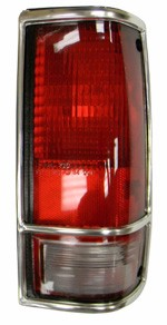 1982-93 Chevy S10 & GMC Sonoma Truck Tail Light Assembly with Chrome Trim, Right