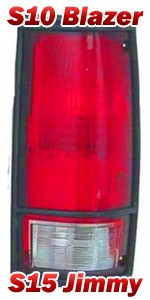 1983-94 Chevy S10 Blazer & GMC S15 Jimmy Tail Light Assembly w/ Black Trim, Right