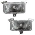 1983-87 Fullsize Chevy & GMC Truck Custom Clear Parking Light Assemblies, Single Headlight