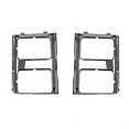 1985-87 Fullsize Chevy & GMC Truck Chrome Headlight Bezels with Dual Lights, Pair