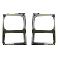 1985-87 Fullsize Chevy & GMC Truck Chrome Headlight Bezels with Single Lights, Pair