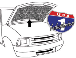 "1994-2004 Chevy S10 & GMC S15 Truck ""Replacement Style"" Hood Insulation"