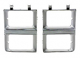 1981-82 Fullsize Chevy & GMC Truck Chrome Headlight Bezels with Dual Lights, Pair