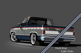 1981-87 Chevy & GMC Truck 2-Tone Paint Break Stripe Kit, Dark Blue/Light Slate