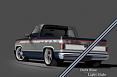 1981-87 Chevy & GMC Truck 2-Tone Paint Break Stripe Kit, Dark Blue/Light Slate