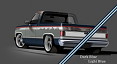 1981-87 Chevy & GMC Truck 2-Tone Paint Break Stripe Kit, Dark Blue/Light Blue