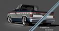 1981-87 Chevy & GMC Truck 2-Tone Paint Break Stripe Kit, Light Blue/Dark Blue