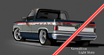 1981-87 Chevy & GMC Truck 2-Tone Paint Break Stripe Kit, Vermillion/Light Slate