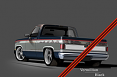 1981-87 Chevy & GMC Truck 2-Tone Paint Break Stripe Kit, Vermillion/Black