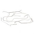 1981-87 Chevy & GMC Truck Complete Brake Line Set, Power Disc Brakes, 2wd, 1/2 Ton Short Bed