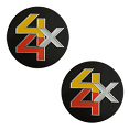 1978-87 Fullsize Chevy Truck Rally Wheel Center Decal 4WD, Front, Pair
