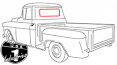 1947-59 Chevy & GMC Truck Small Rear Window Seal with Black Lockstrip