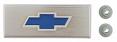 1967-72 Fullsize Chevy Blazer & Truck Console Emblem, Blue Bowtie