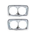 1967-72 GMC Truck Chrome Headlight Bezels, Pair