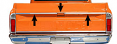 1969-72 Chevy & GMC Fleetside Truck Upper Tailgate Molding Kit