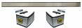 1973-80 Fullsize Chevy Truck Back Cab Molding Kit, with Bowtie Emblems