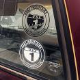 USA1 Industries Round Logo Sticker