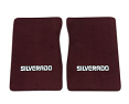 1975-80 Fullsize Chevy Truck Carpet Floor Mats with Silverado Logo