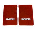 1975-80 Fullsize Chevy Truck Carpet Floor Mats with Silverado Logo