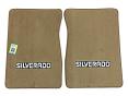 1973-74 Fullsize Chevy Truck Carpet Floor Mats with Silverado Logo