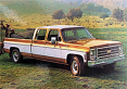 1973-80 Fullsize Chevy & GMC Truck Fleetside Body Side Molding Set, Crew Cab