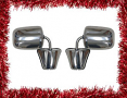 """1973-87 Fullsize Chevy & GMC Truck """"Large Style"""" Outside Rearview Mirror, Stainless Pair - HD"""