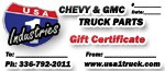 USA1 Industries Gift Certificate