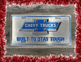 Chevy Truck License Plate, Built To Stay Tough - Holiday Deal