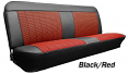 1960-66 Chevy & GMC Truck Houndstooth Bench Seat Cover with Horizontal Band