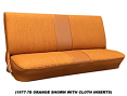 1973-80 Fullsize Chevy & GMC Truck Front Vinyl & Cloth Bench Seat Cover 1st Design, Original Colors