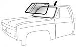 1973-87 Fullsize Chevy & GMC Truck Windshield Seal w/o Trim Channel