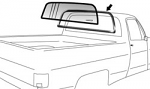 1973-87 Full Size Chevy & GMC Truck Rear Glass Seal w/o Trim Channel