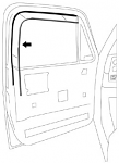 1973-80 Fullsize Chevy & GMC Truck Glass Run Window Channel Seal (ea.)