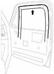 1981-87 Fullsize Chevy & GMC Truck RH Glass Run Window Channel Seal (ea.)