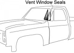 1981-87 Fullsize Chevy & GMC Truck Vent Window Seals 2 Piece Design