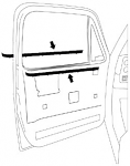 1981-87 Fullsize Chevy & GMC Truck Beltline Window Felts 4pc. set
