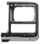 1980 Fullsize Chevy & GMC Truck Square Headlight Bezel, Left