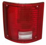 1973-87 Fullsize Chevy & GMC Fleetside Truck Tail Light Lens, w/o Trim, Left