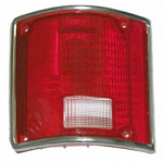 1973-87 Fullsize Chevy & GMC Fleetside Truck Tail Light Lens, with Trim, Left