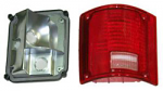 1973-87 Fullsize Chevy & GMC Fleetside Truck Tail Light Assembly, w/o Trim, Left